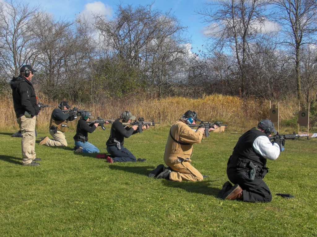 David Maglio teaching a rifle class