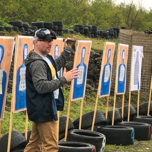 David Maglio Teaching a pistol class